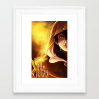 zuko Framed Art Prints featuring Bender Zuko by Larelley