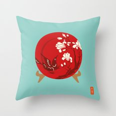 Chinese Antique - Plate Throw Pillow