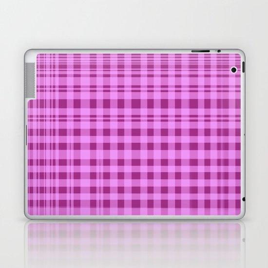 Purple Checkers. Laptop & iPad Skin