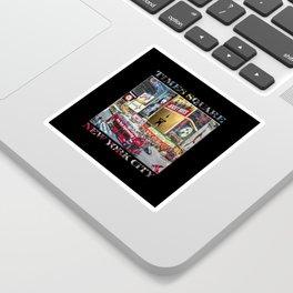Times Square II (widescreen on black) Sticker