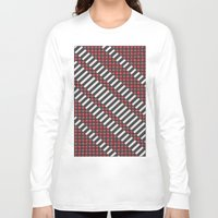 stripes Long Sleeve T-shirts featuring Stripes by MissCrocodile63