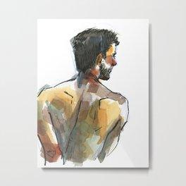 NATE, Semi-Nude Male by Frank-Joseph Metal Print