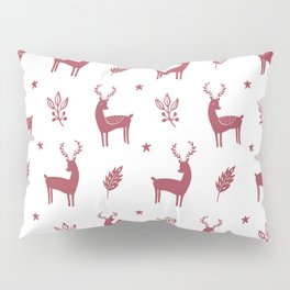 Christmas Red Reindeers Pillow Sham