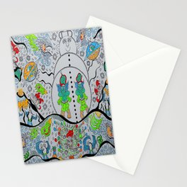 Supersonic_Volcanic_Snowman Stationery Cards