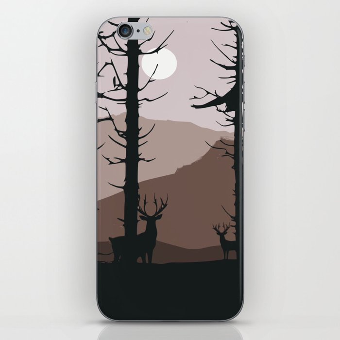 Moonlight into the wood iPhone Skin