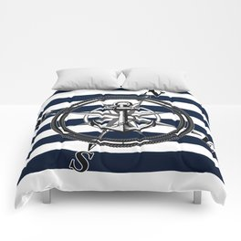 Navy Striped Nautica Comforters