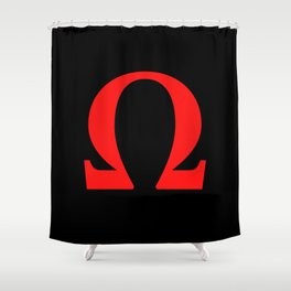 Ω omega Shower Curtain