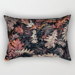 Autumn to winter dry leaves Rectangular Pillow