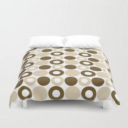 Brown Circles, Tan Dots, Pattern, Digital Design Duvet Cover