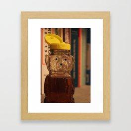 Yellow Top Honey Bear Framed Art Print