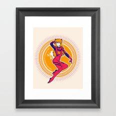 Nerv: Join Now! - Gold Edition Framed Art Print