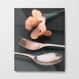 Flowers on Slate, variation 4 Metal Print