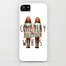 Come play with us iPhone Case