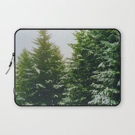 Winter Pine Tree Forest (Color) Laptop Sleeve