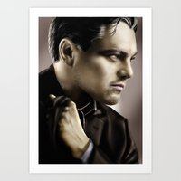 leonardo dicaprio Art Prints featuring Leonardo DiCaprio by Duke78