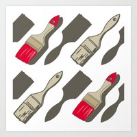 tool Art Prints featuring Tool Time by Pattern Design