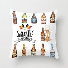 Belgium Beers Throw Pillow