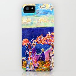 Maurice Prendergast On the Beach iPhone Case