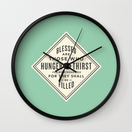 Hunger & Thirst Wall Clock