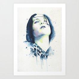 Brian Molko (Narcoleptic) Art Print