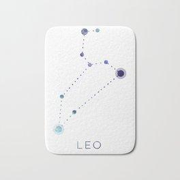 LEO STAR CONSTELLATION ZODIAC SIGN Bath Mat