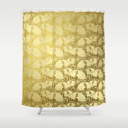 Scrooge Piles Shower Curtain