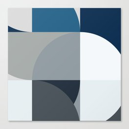 Blue design Canvas Print