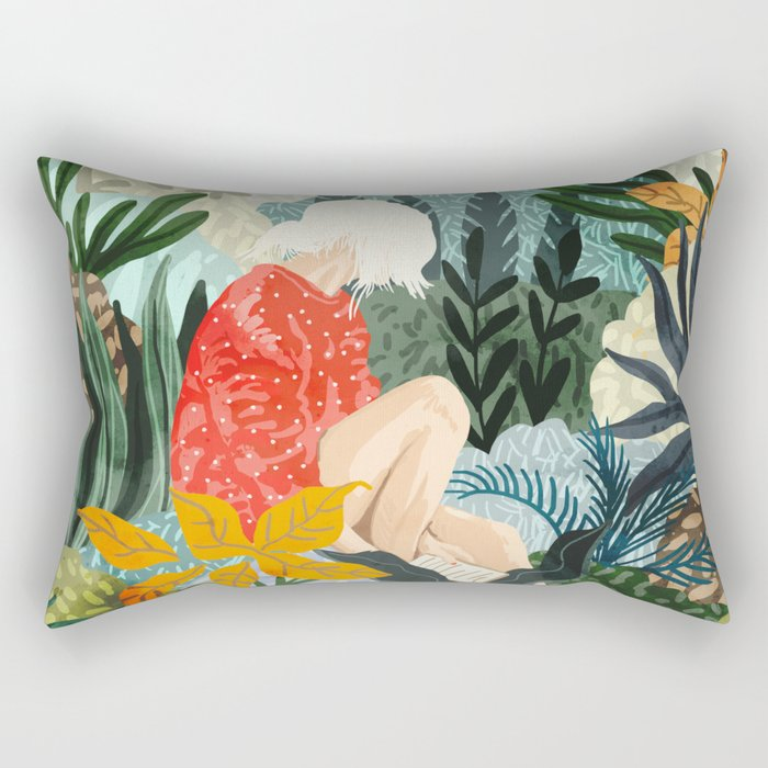 The Distracted Reader Rectangular Pillow
