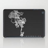 los angeles iPad Cases featuring LOS ANGELES by Nicksman