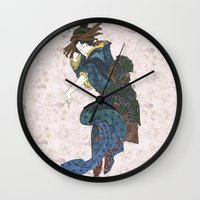 japanese Wall Clocks featuring japanese by Maria Durgarian