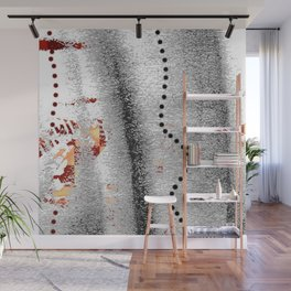 Line of points Wall Mural