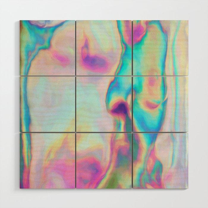 Iridescence - Rainbow Abstract Wood Wall Art by micklyn | Society6