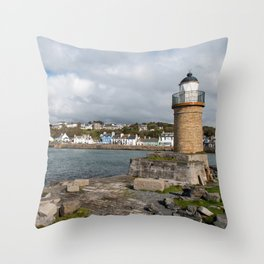 Portpatrick in Dumfries in Scotland Throw Pillow
