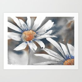 Storming Daisies  Art Print