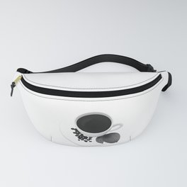 Coffee Cup - Black & White Fanny Pack