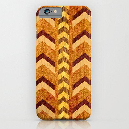 Wood Inlaid Chevrons iPhone & iPod Case