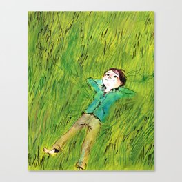 On the grass Canvas Print