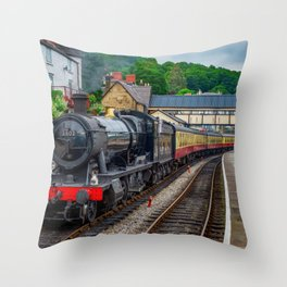 Steam Locomotive Wales Throw Pillow