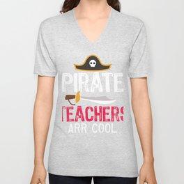 Pirate Teachers Arr Cool Unisex V-Neck