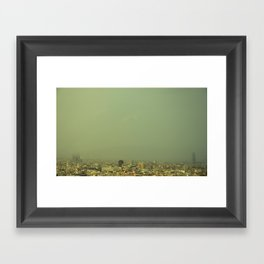 Barcelona Skyline Framed Art Print