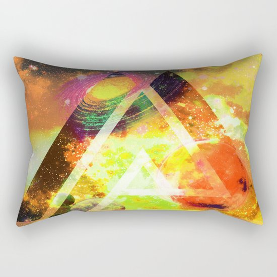 space triangles Rectangular Pillow