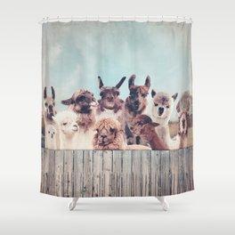 ALPACA ALPACA ALPACA Shower Curtain