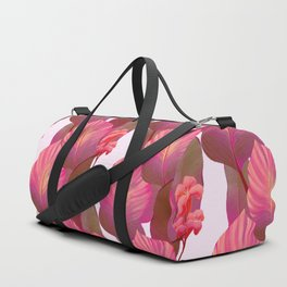 Canna Tropicanna Floral in Pink #6 Duffle Bag