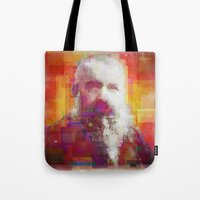 monet Tote Bags featuring Claude Monet by Steve W Schwartz Art