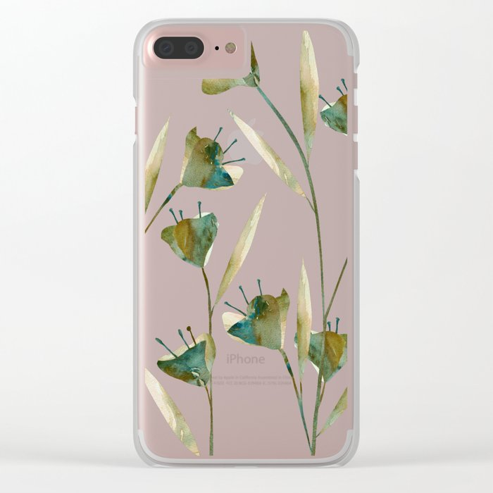Flowers Watercolor Clear iPhone Case