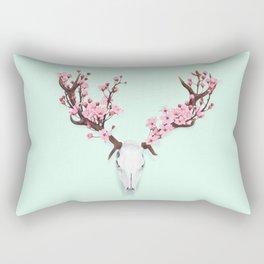 CHERRY BLOSSOM SKULL Rectangular Pillow