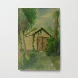 Overgrown Shed WC161103a Metal Print