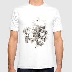 Anatomy: Study 1 Salivating Zombie MEDIUM Mens Fitted Tee White
