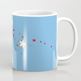 Micronesia Flag with Map of Micronesia Coffee Mug