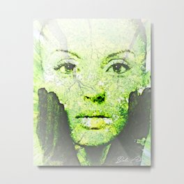 Forest Face Metal Print
